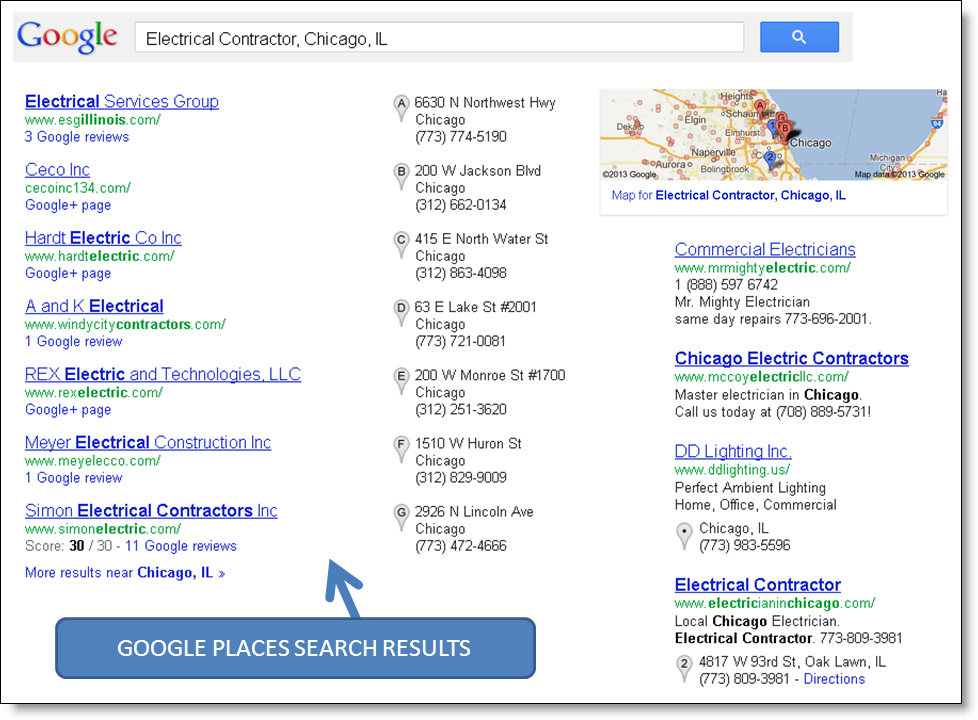 What is Google Places for Local Contractors