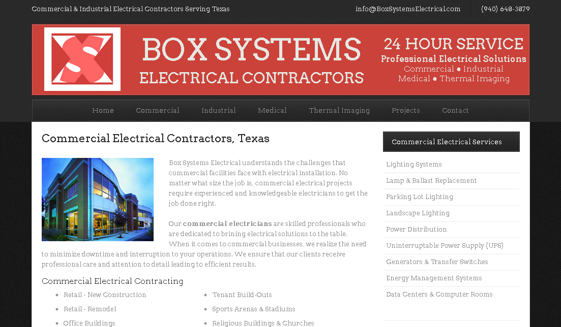 Box Systems Electrical Website – Texas