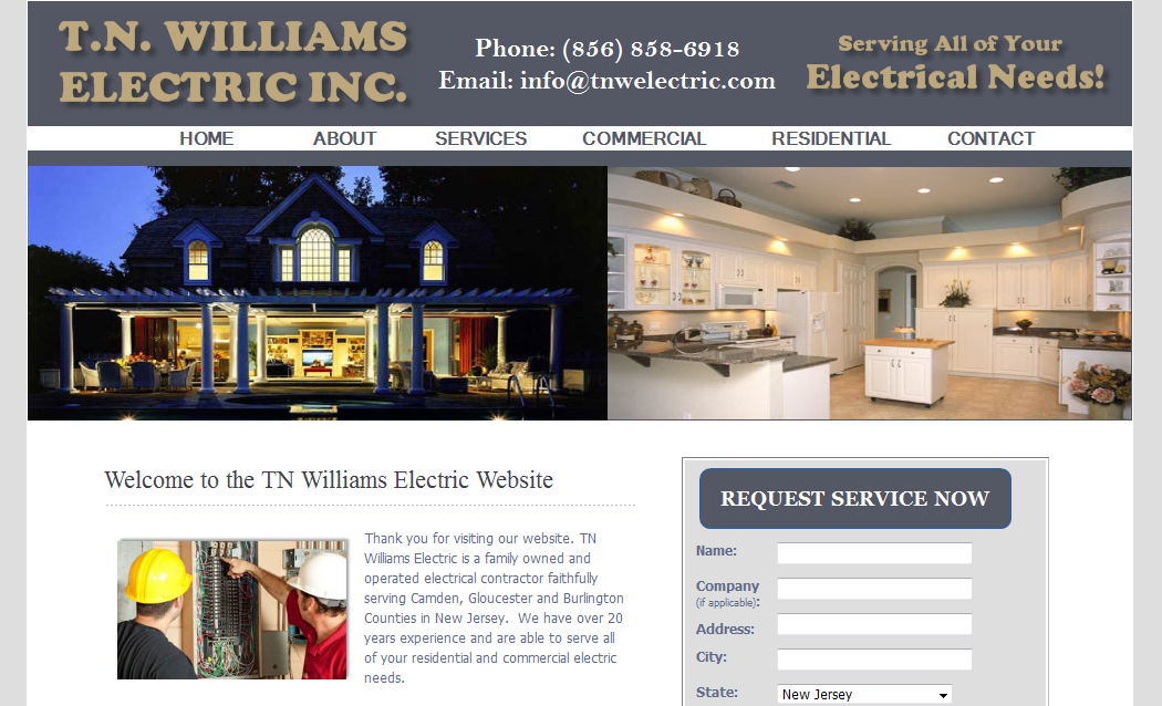 T.N. Williams Electric Website – New Jersey