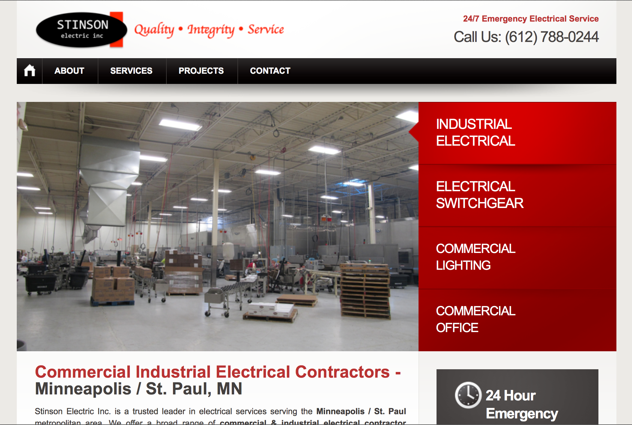 Stinson Electric Website – Minneapolis