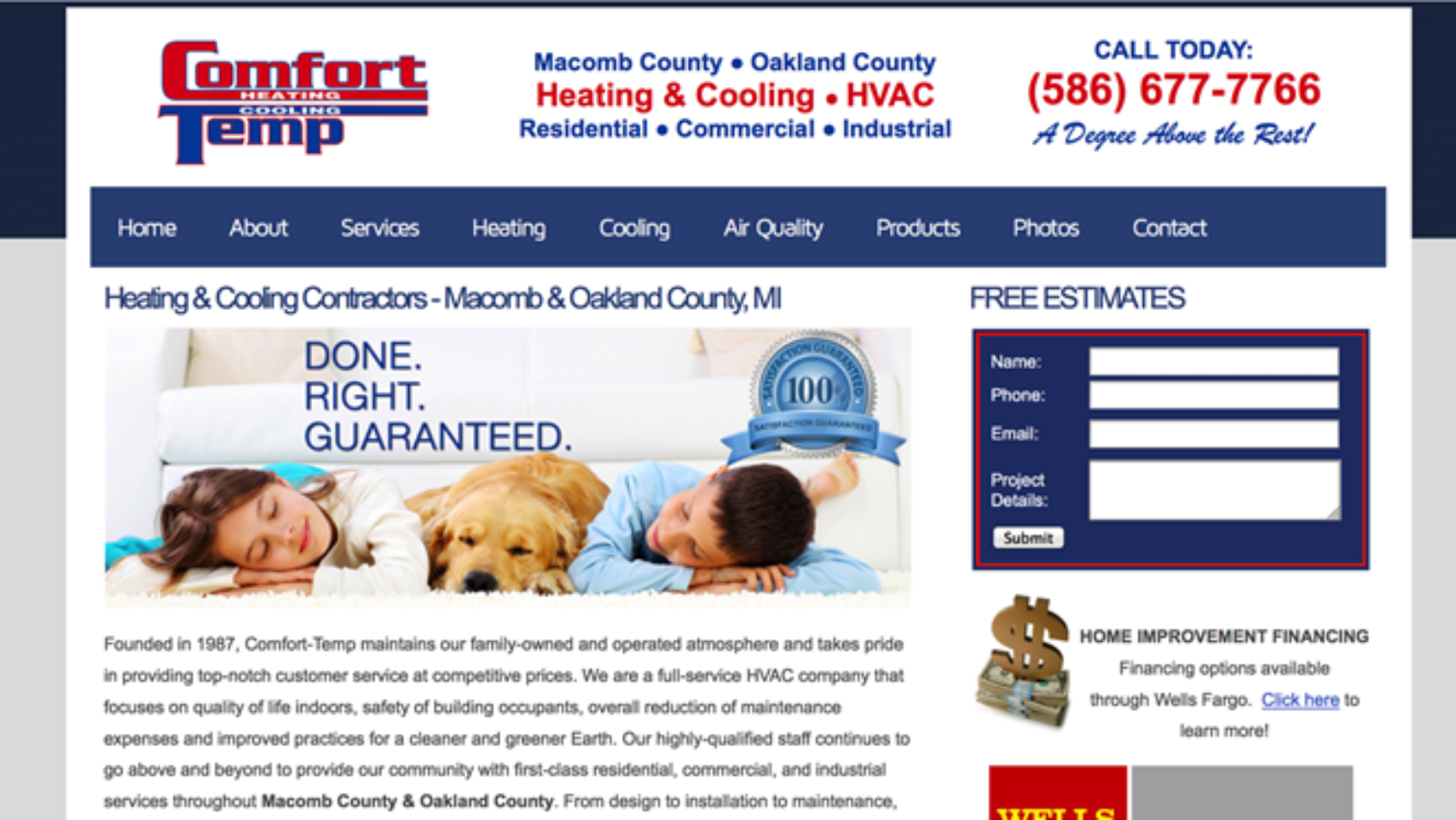 Comfort-Temp Heating & Cooling Website – Macomb, MI