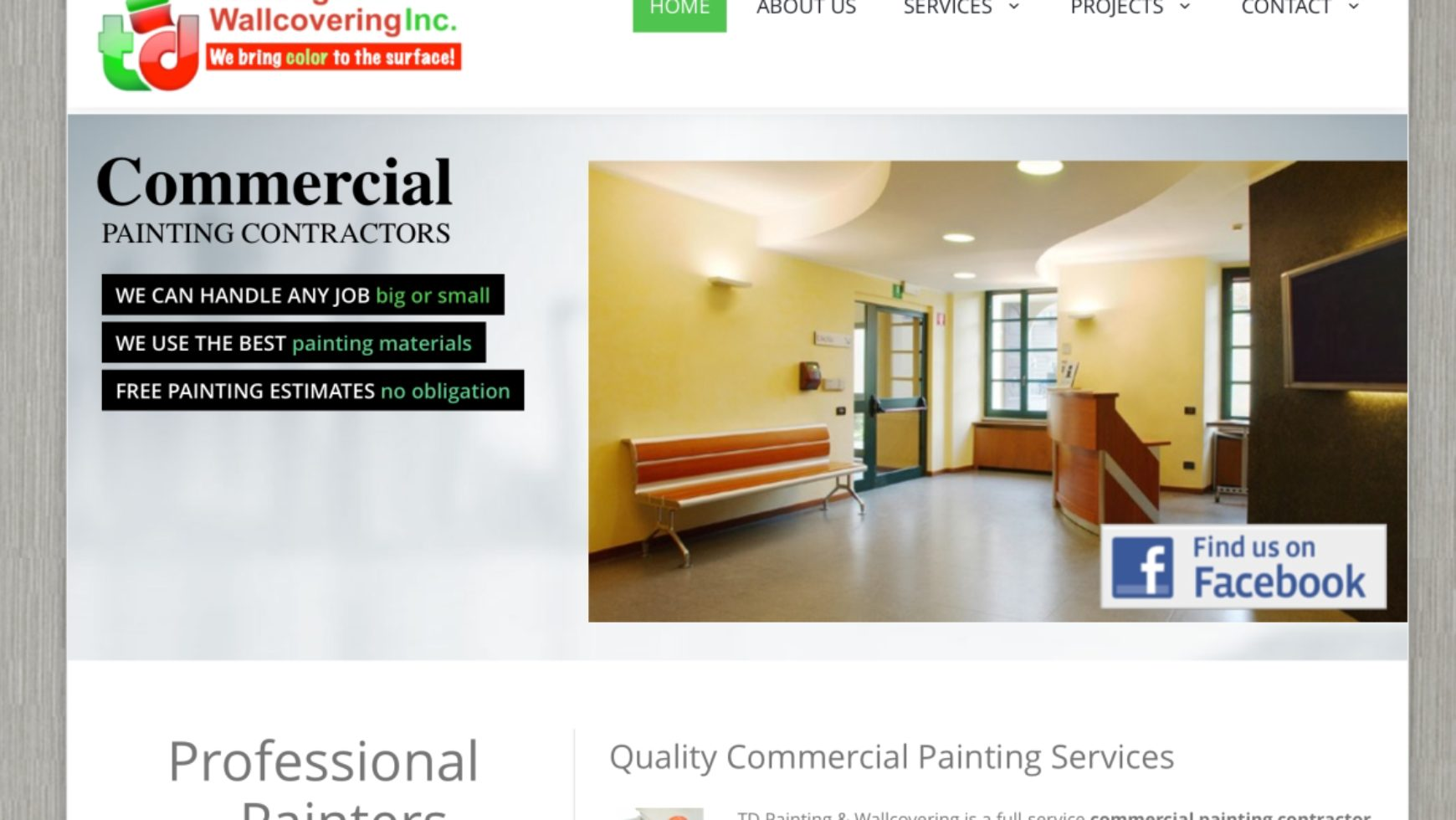 TD Painting and Wallcovering Website – Detroit, MI