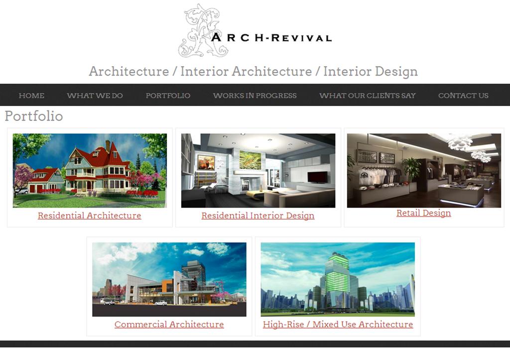 Architecture Interior Design Website