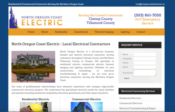North Oregon Coast Electric Website – North Oregon