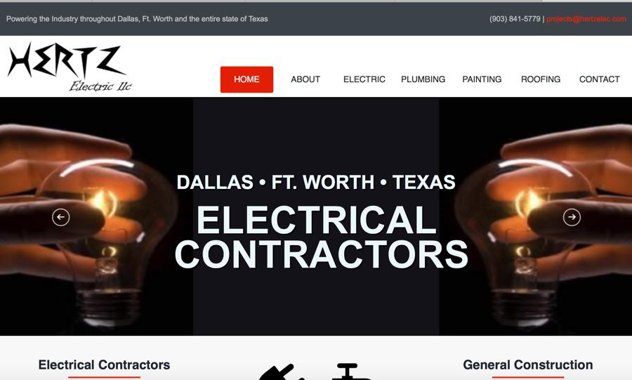 Hertz General Construction Website – Texas