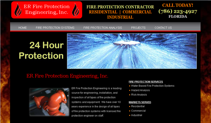 ER Fire Protection Engineering Website – Florida