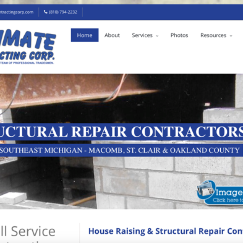 Ultimate Contracting Corp Website – Southeast Michigan