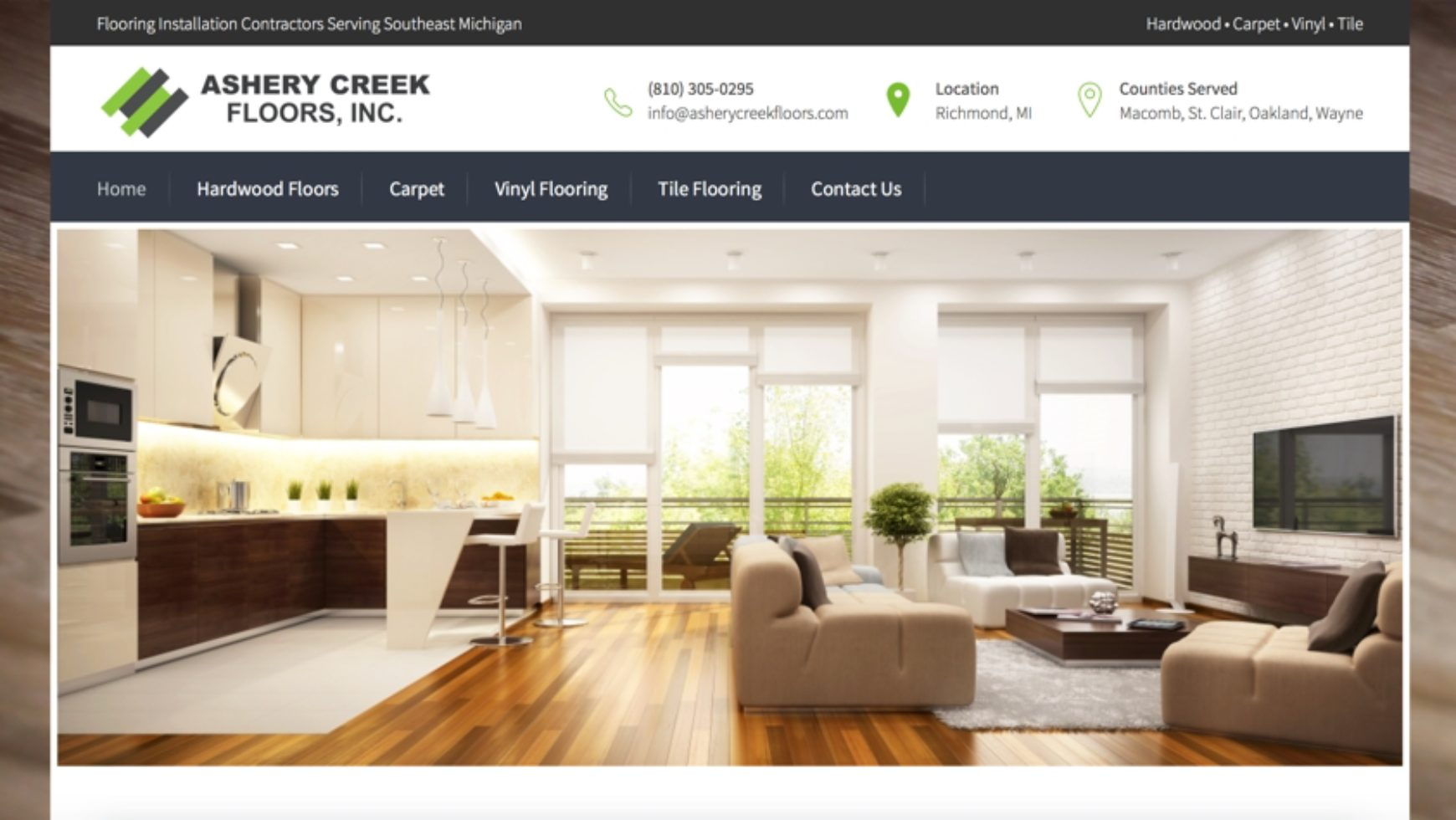Ashery Creek Floors Website – Macomb County, MI