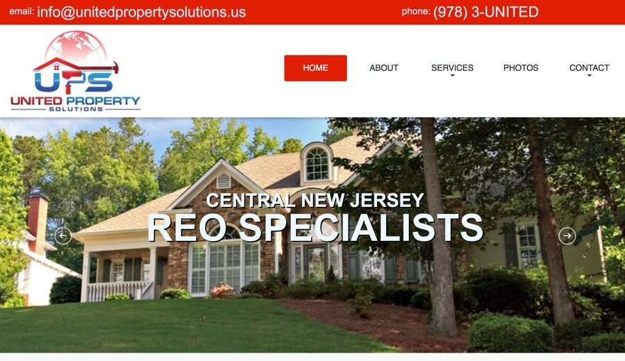 United Property Solutions Website – New Jersey