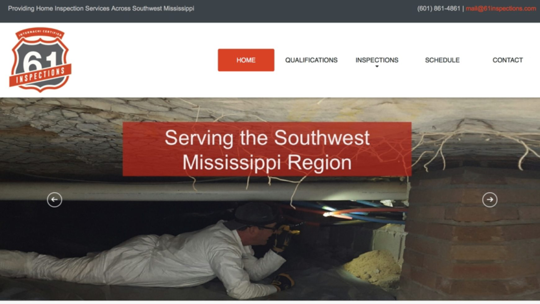61 Inspections Website – Natchez, Mississippi