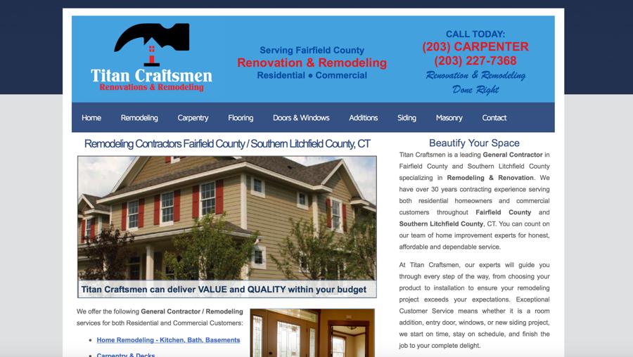 Titan Craftsmen LLC Website – Connecticut