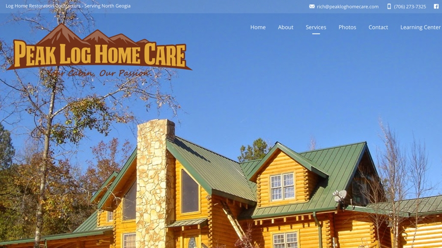 Peak Log Home Care Website – North Georgia