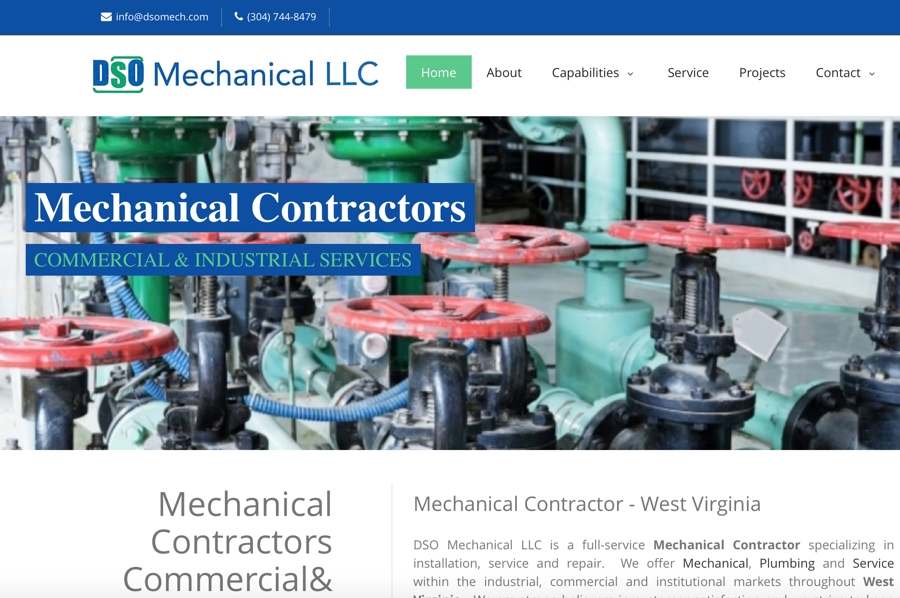 DSO Mechanical Website – South Charleston, WV