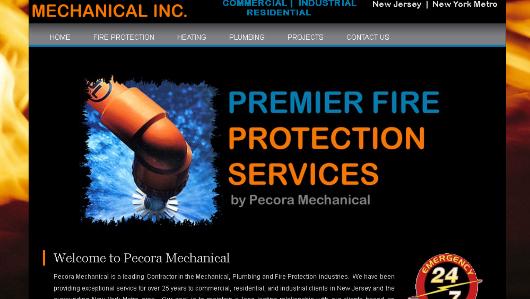 Pecora Mechanical Website – New Jersey