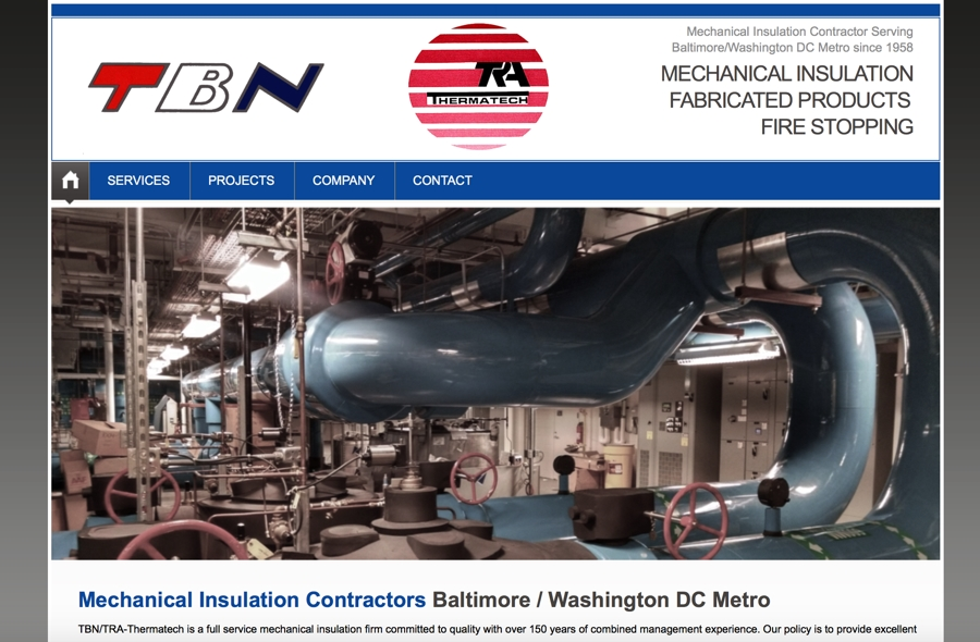 TBN/TRA Thermatech Website – Baltimore, MD