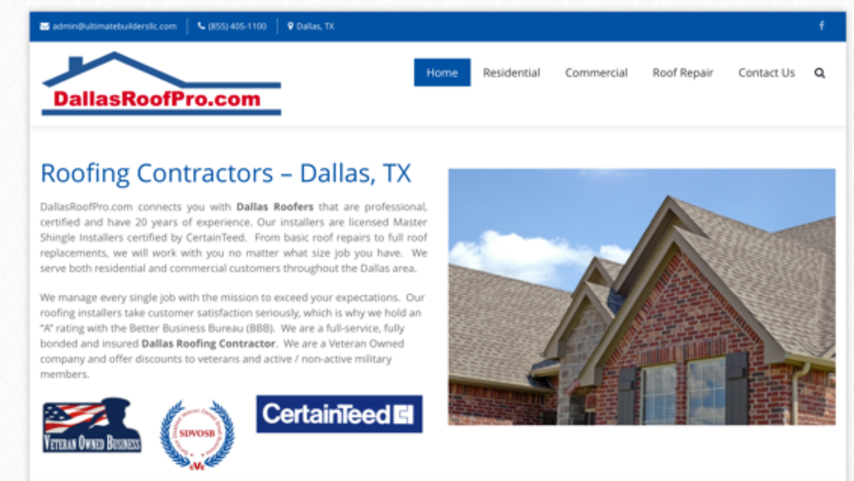 Dallas Roof Pro Website – Dallas, TX