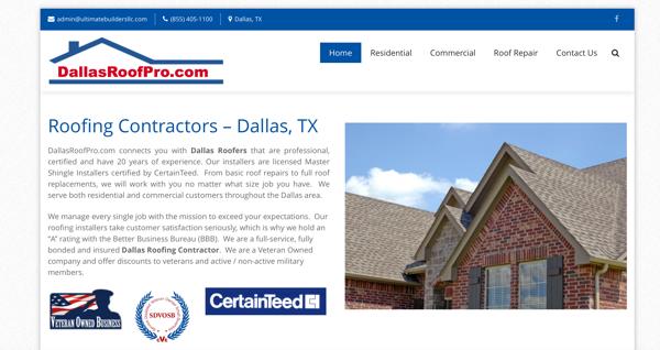 Dallas Roof Pro Website Dallas Tx Contractorweb