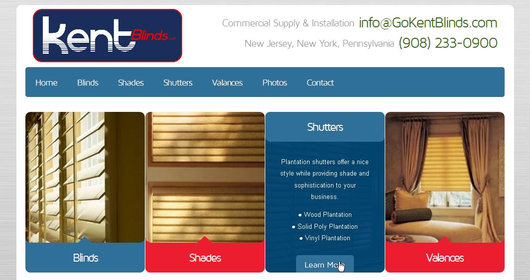 Window Treatment Contractor Website Design