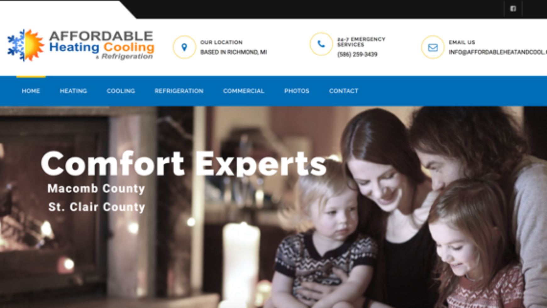 Affordable Heating, Cooling & Refrigeration Website – Richmond, MI