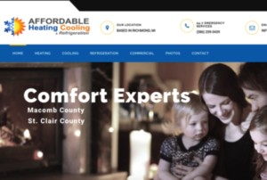 Heating and Cooling Website Design