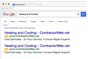 Pay Per Click Google Adwords for HVAC