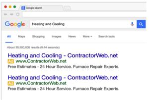 Pay Per Click Google Adwords for HVAC