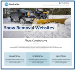Snow Removal Website Design