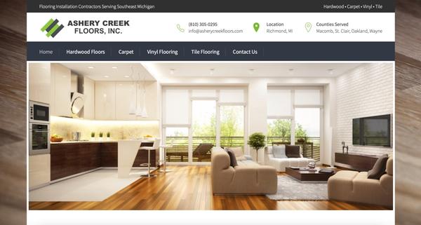 Flooring Installation Contractor Website Design