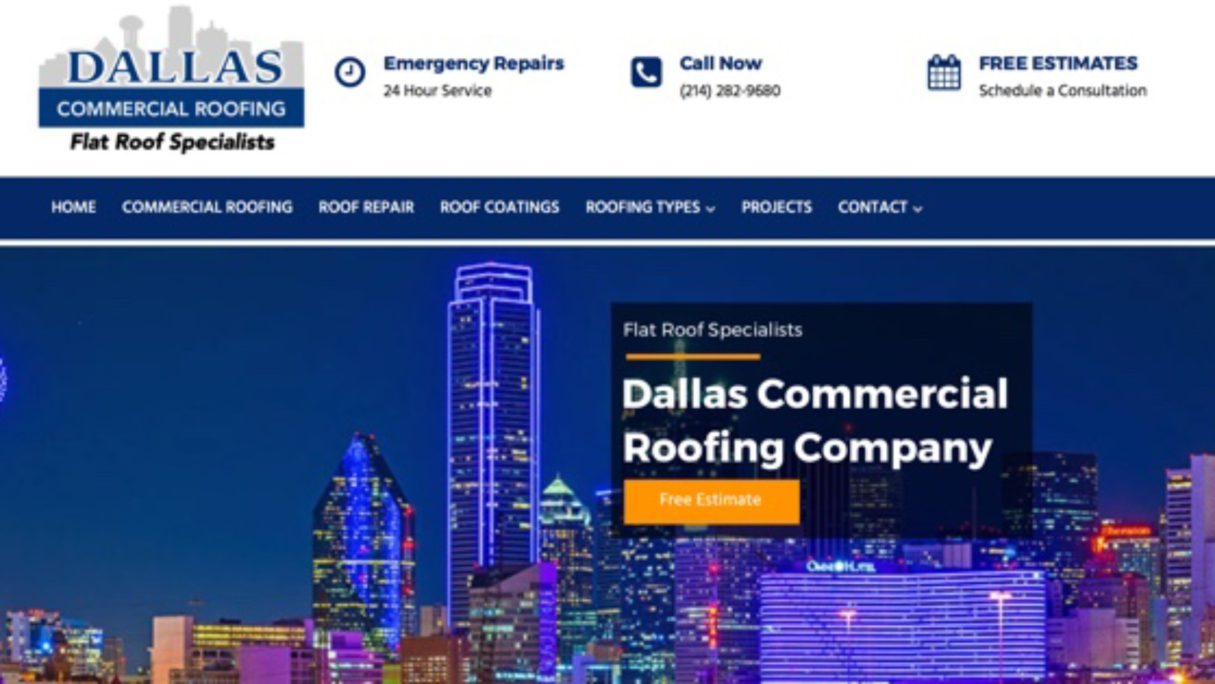 Dallas Commercial Roofing Company Website – Dallas, TX
