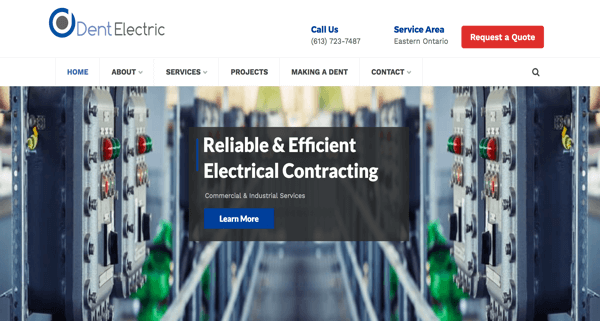 Dent Electric Website – Eastern Ontario