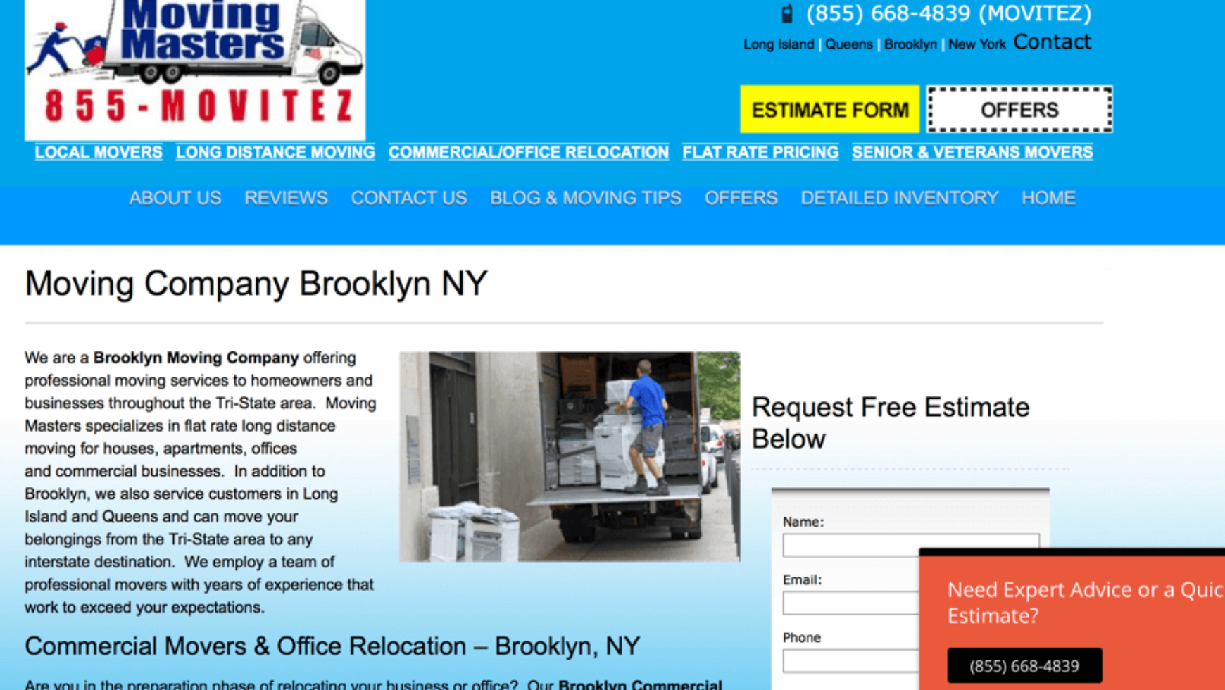 Moving Masters – Moving Company SEO – New York