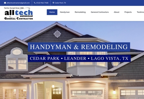 Handyman Website Design with SEO