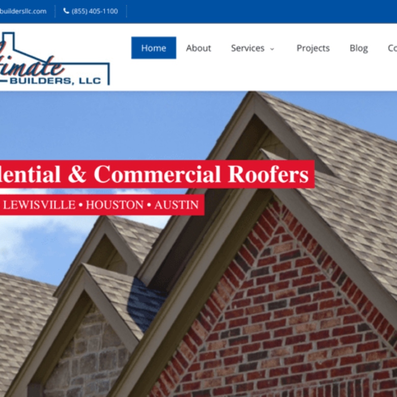 Ultimate Builders Website – Dallas, TX