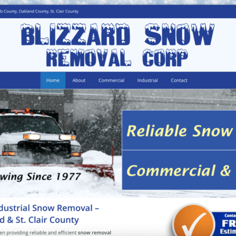 Blizzard Snow Removal Corp Website – Algonac, MI