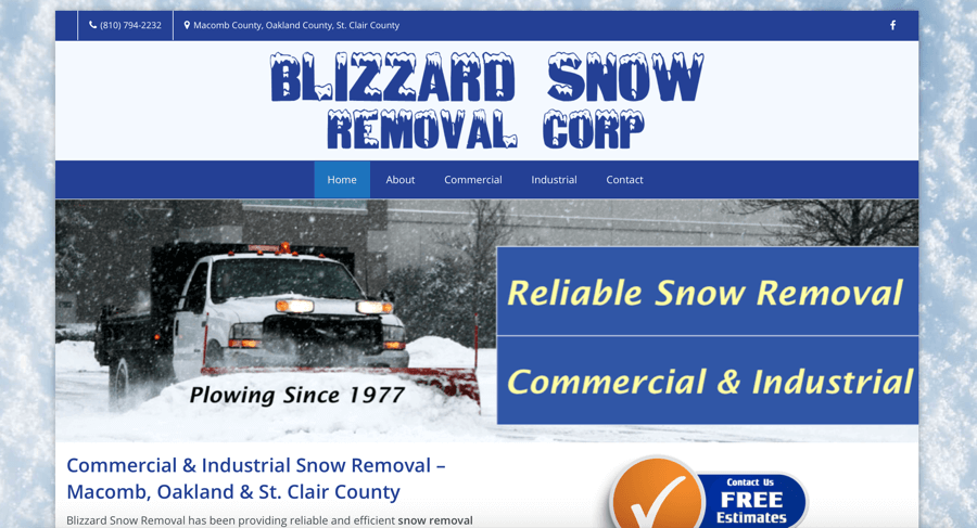 Snow Removal Website Design and SEO