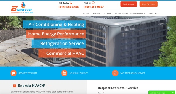 Enertia HVAC/R Website – Dallas, TX