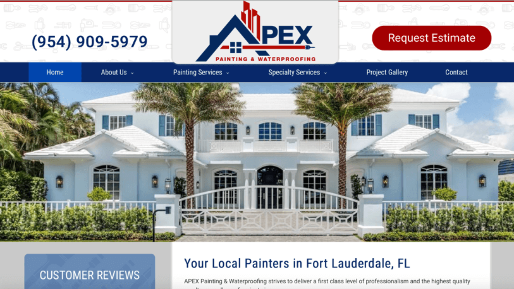 Painting & Waterproofing Website – Florida