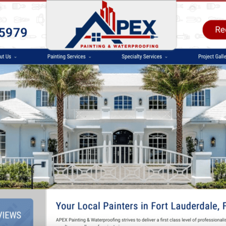 Apex Painting & Waterproofing Website – Fort Lauderdale, FL