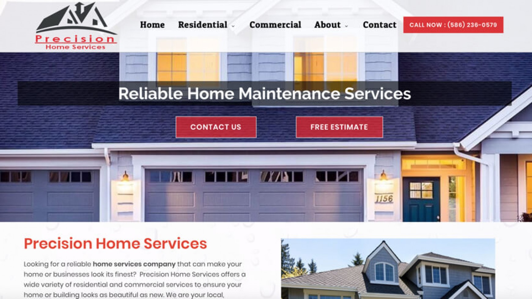 Precision Home Services Website – Richmond, MI