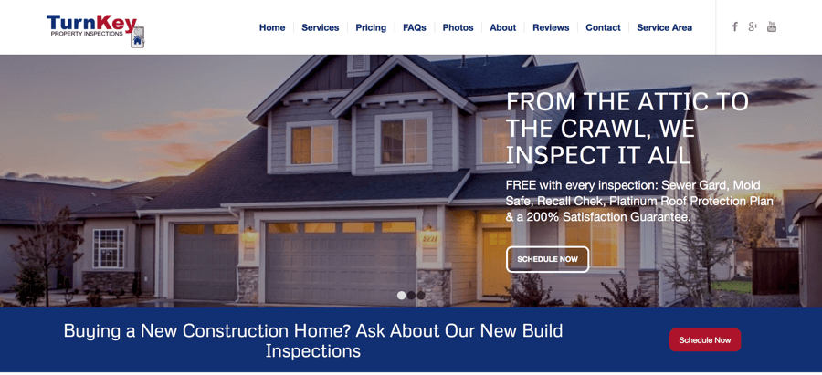 TurnKey Property Inspections Website – Bend, OR