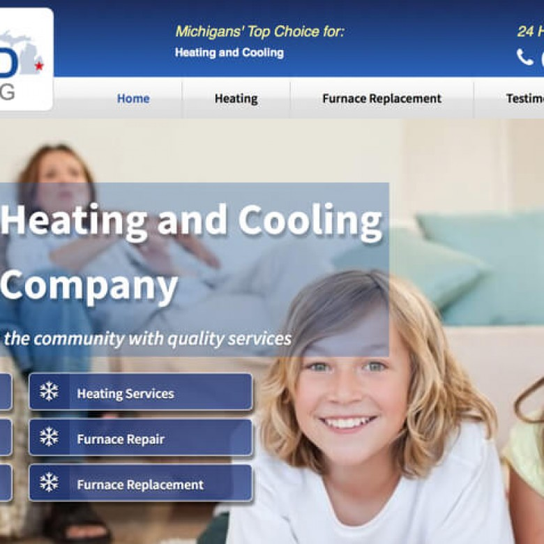 Richmond Heating and Cooling Website – Richmond, MI