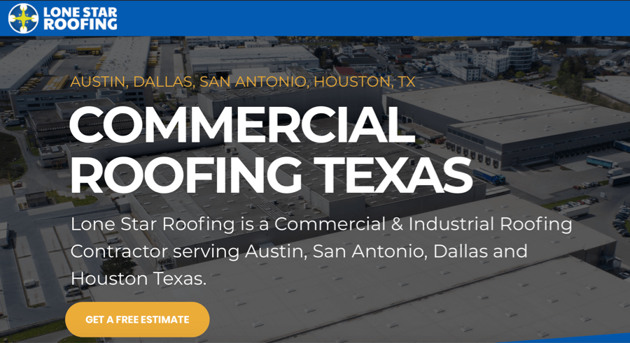 Lone Star Roofing Website – Texas