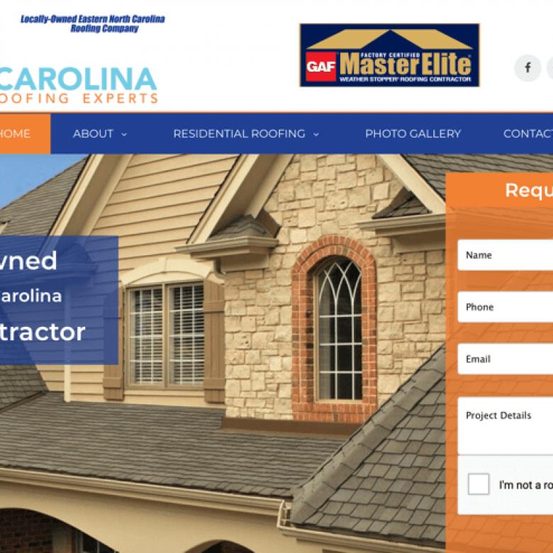 Coastal Carolina Roofing Experts Website