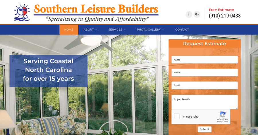 Southern Leisure Builders Website