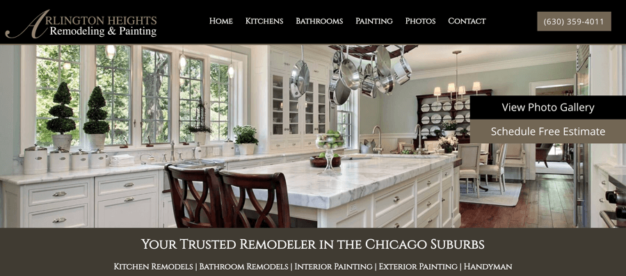 Arlington Heights Remodeling & Painting Website