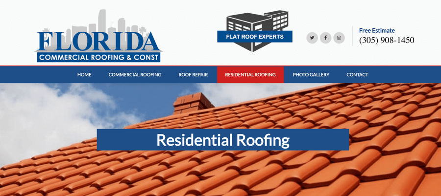 Florida Commercial Roofing Website