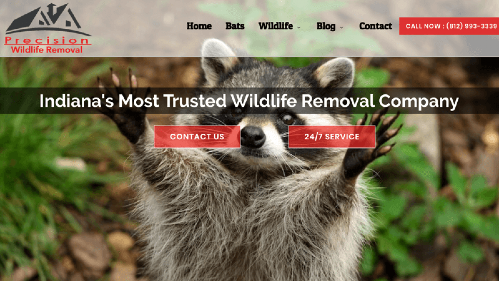 Precision Wildlife Removal Website – Indiana